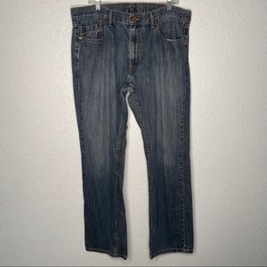 36x34 Levi Strauss 559 Relaxed Straight Blue Jeans